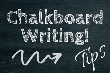 chalkboard writing tips
