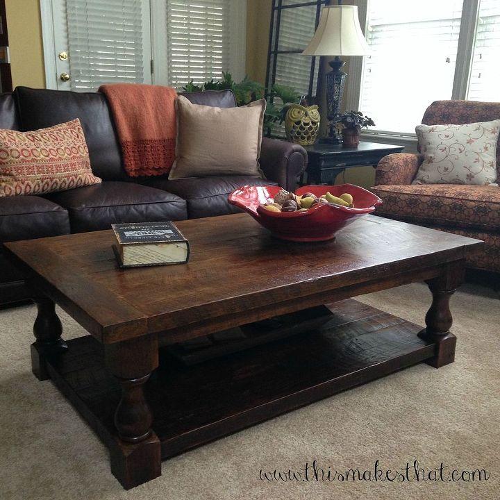 diy pottery barn inspired cortona coffee table