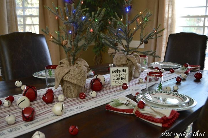 jingle bell holiday table setting