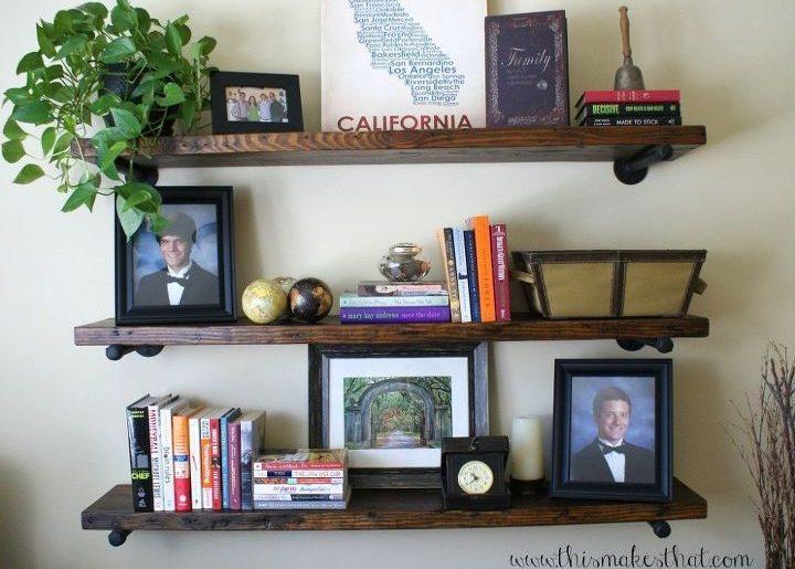 restoration hardware inspired rustic shelves