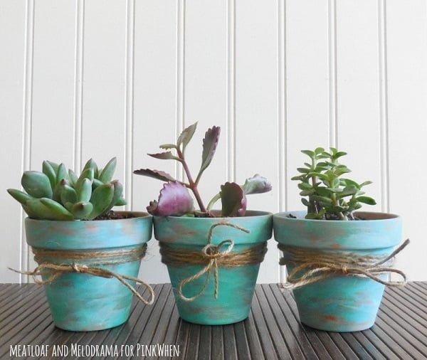 rustic indoor pots