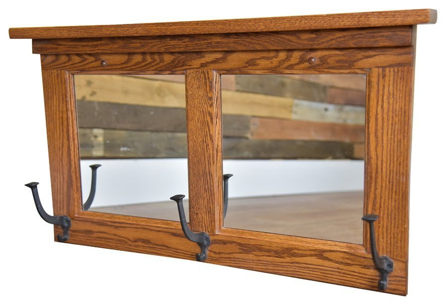 Mirror With Coat Hooks