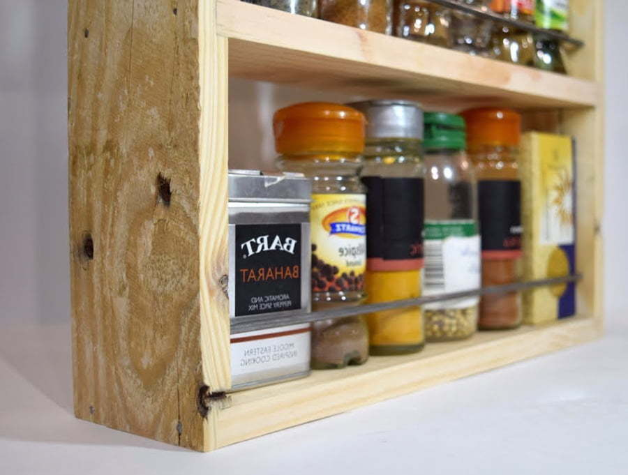 Rustic Hanging Spice Rack