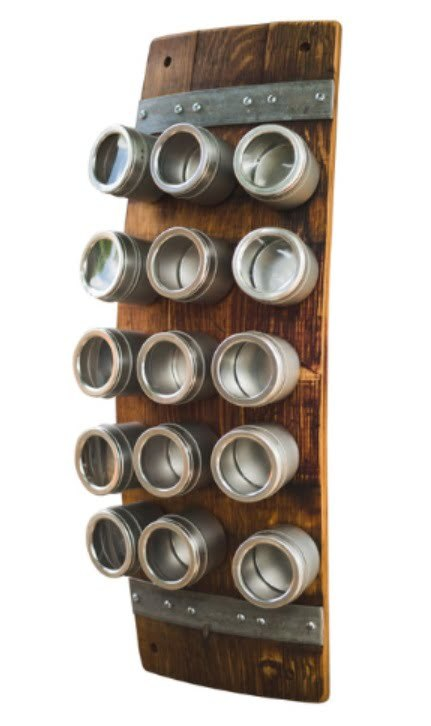 Rustic Magnetic Spice Rack