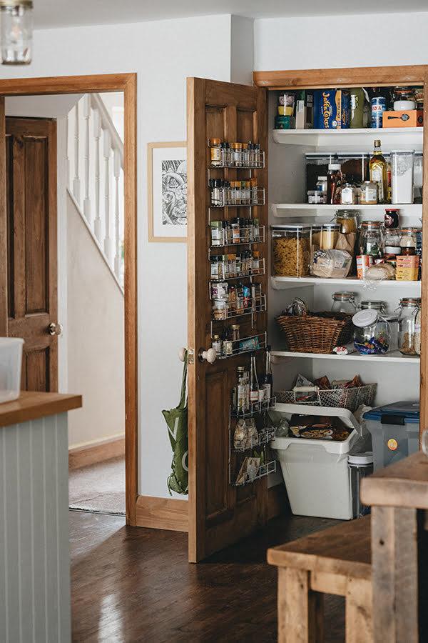 Rustic Pantry Door Spice Rack