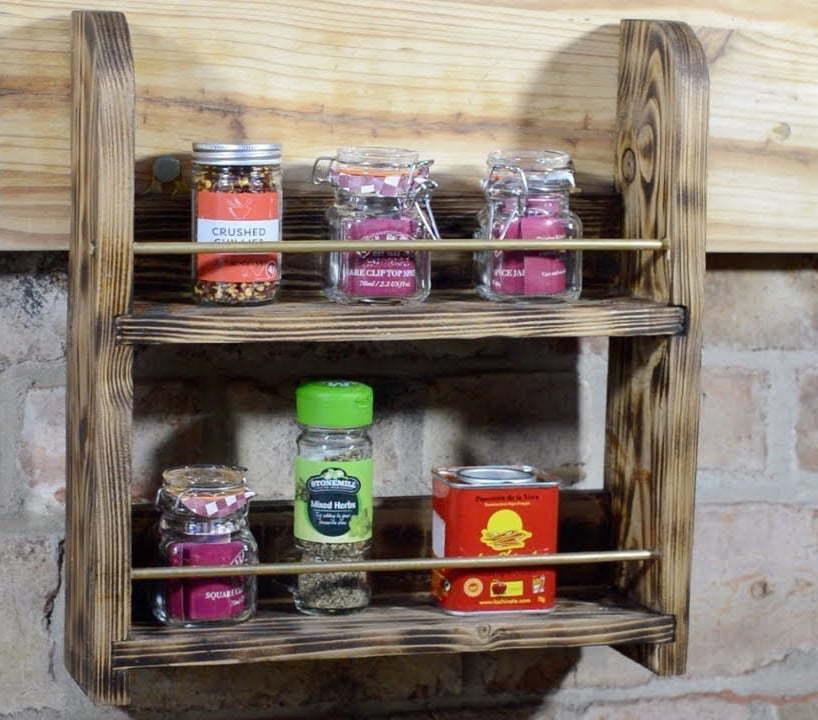 Rustic Spice Rack