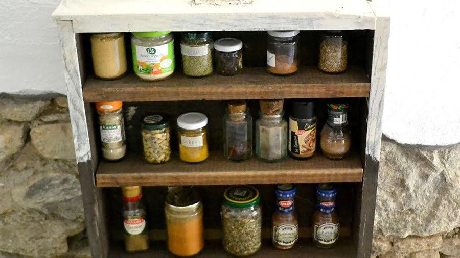 Rustic Spice Shelf