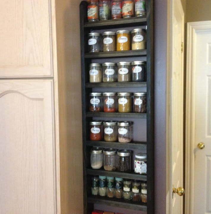 Rustic Vertical Spice Rack