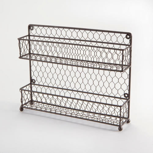Rustic Wire Spice Rack