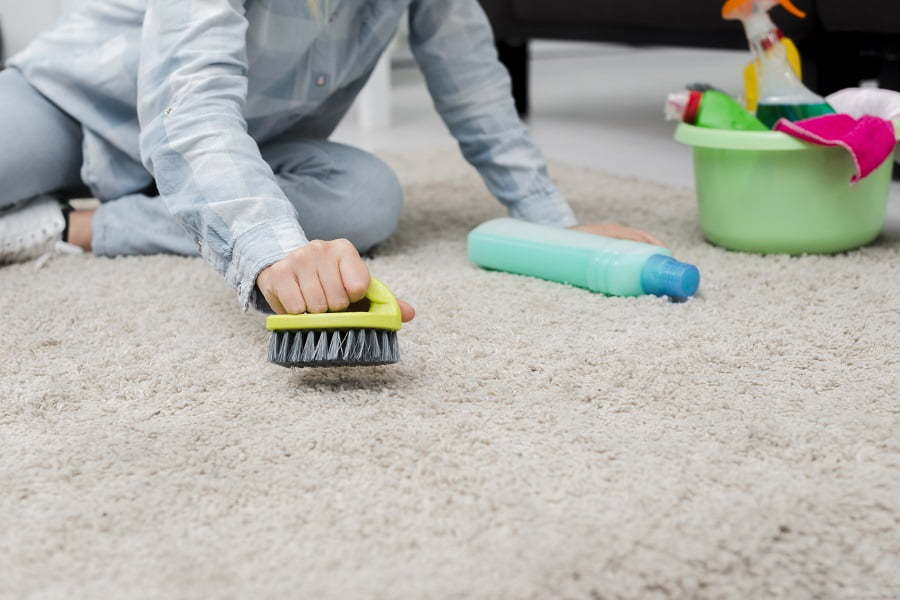 washing carpet
