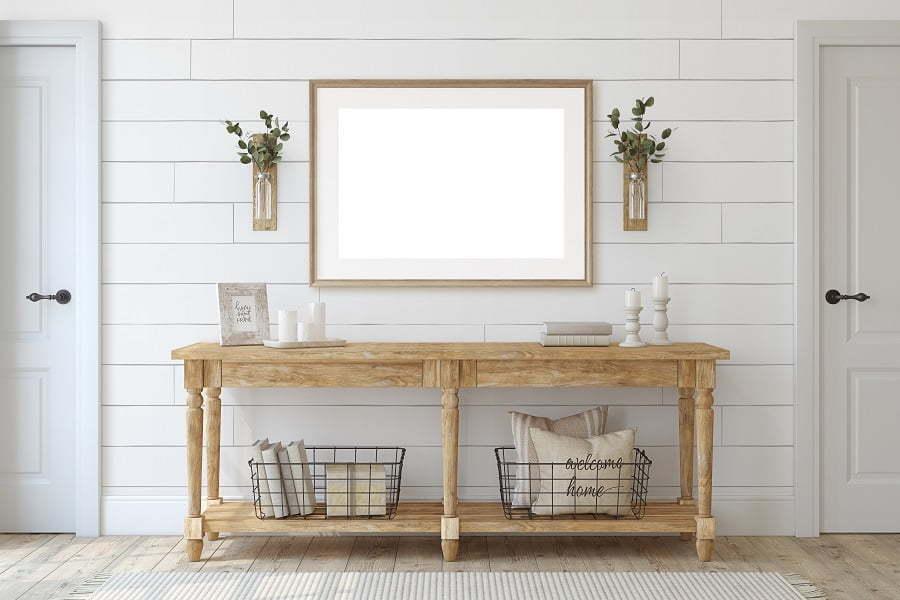 farmhouse entryway table