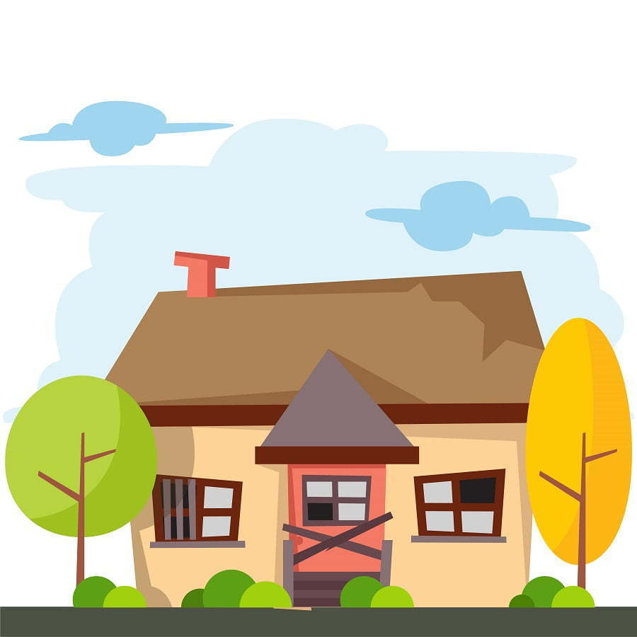old house graphic