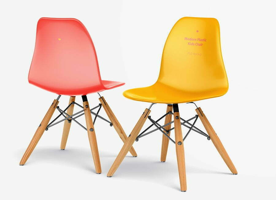 plastic chairs eames