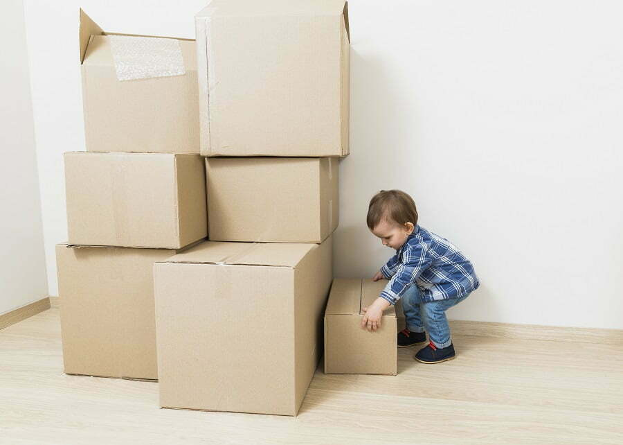 child moving